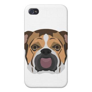 Illustration English Bulldog iPhone 4 Covers