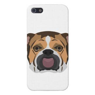 Illustration English Bulldog iPhone 5/5S Covers