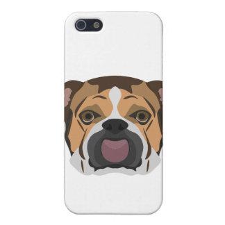 Illustration English Bulldog iPhone 5 Case