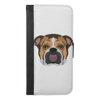 Illustration English Bulldog iPhone 6/6s Plus Wallet Case