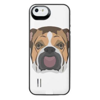 Illustration English Bulldog iPhone SE/5/5s Battery Case