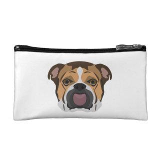 Illustration English Bulldog Makeup Bag