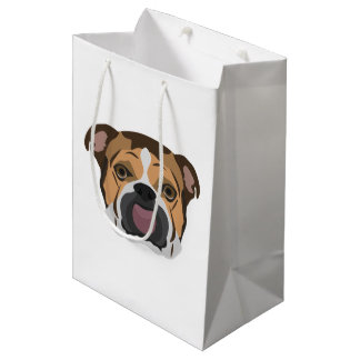Illustration English Bulldog Medium Gift Bag
