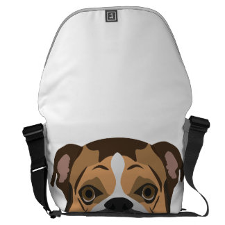Illustration English Bulldog Messenger Bag