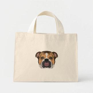 Illustration English Bulldog Mini Tote Bag