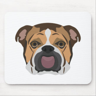 Illustration English Bulldog Mouse Pad