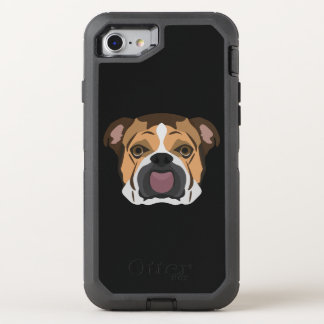 Illustration English Bulldog OtterBox Defender iPhone 8/7 Case
