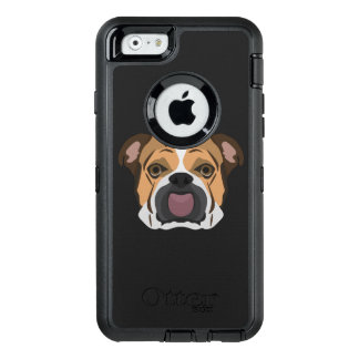 Illustration English Bulldog OtterBox Defender iPhone Case