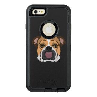 Illustration English Bulldog OtterBox Defender iPhone Case