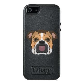 Illustration English Bulldog OtterBox iPhone 5/5s/SE Case