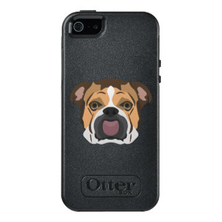 Illustration English Bulldog OtterBox iPhone 5/5s/SE Case