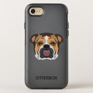 Illustration English Bulldog OtterBox Symmetry iPhone 8/7 Case