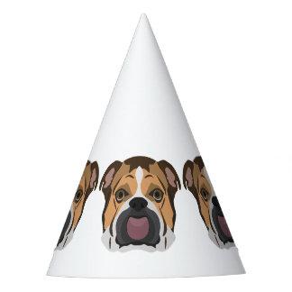 Illustration English Bulldog Party Hat