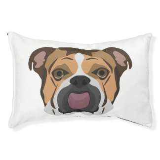 Illustration English Bulldog Pet Bed