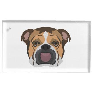 Illustration English Bulldog Place Card Holder