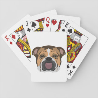 Illustration English Bulldog Playing Cards