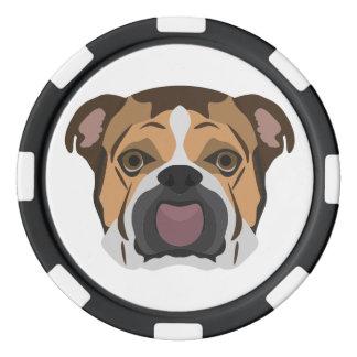 Illustration English Bulldog Poker Chips