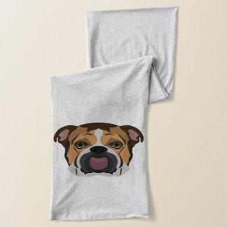 Illustration English Bulldog Scarf