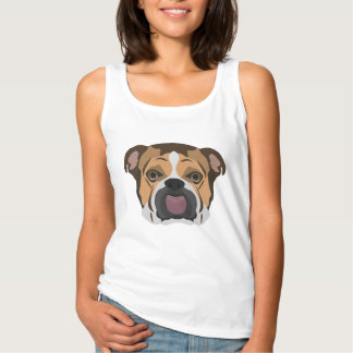 Illustration English Bulldog Singlet