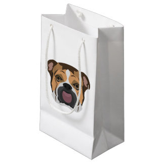 Illustration English Bulldog Small Gift Bag