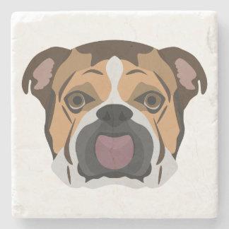 Illustration English Bulldog Stone Coaster
