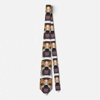 Illustration English Bulldog Tie