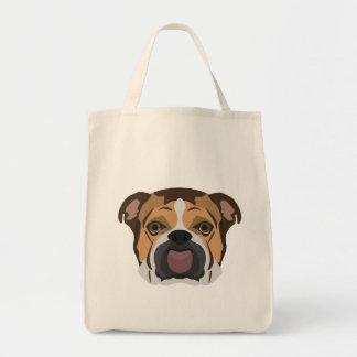 Illustration English Bulldog Tote Bag