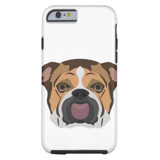 Illustration English Bulldog Tough iPhone 6 Case