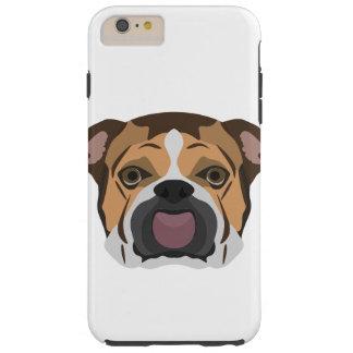 Illustration English Bulldog Tough iPhone 6 Plus Case