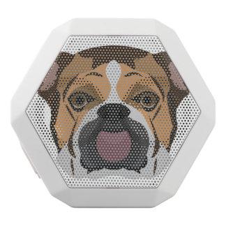 Illustration English Bulldog White Bluetooth Speaker