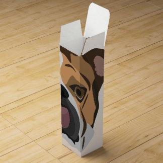 Illustration English Bulldog Wine Box