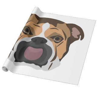 Illustration English Bulldog Wrapping Paper