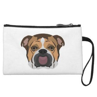 Illustration English Bulldog Wristlet