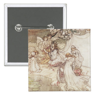 Illustration for a Fairy Tale 15 Cm Square Badge