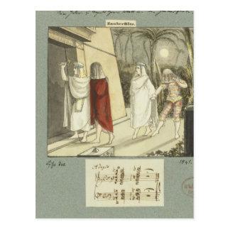 Illustration for Mozart's 'The Magic Flute', 1845 Postcard