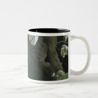 Illustration for The Nose by Nikolai Gogol Two-Tone Coffee Mug