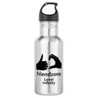 Illustration Friendzone Level Infinity 532 Ml Water Bottle