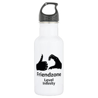 Illustration Friendzone Level Infinity 532 Ml Water Bottle