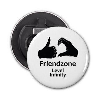 Illustration Friendzone Level Infinity Bottle Opener