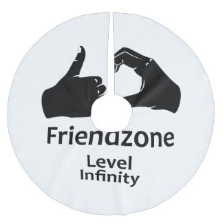 Illustration Friendzone Level Infinity Brushed Polyester Tree Skirt