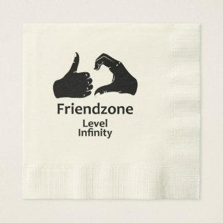 Illustration Friendzone Level Infinity Disposable Napkins