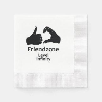 Illustration Friendzone Level Infinity Disposable Serviette