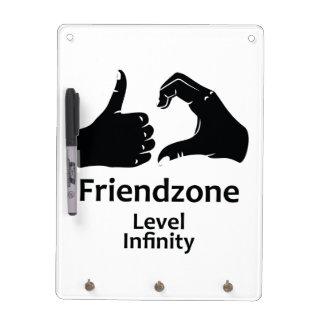 Illustration Friendzone Level Infinity Dry Erase Whiteboard