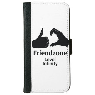 Illustration Friendzone Level Infinity iPhone 6 Wallet Case