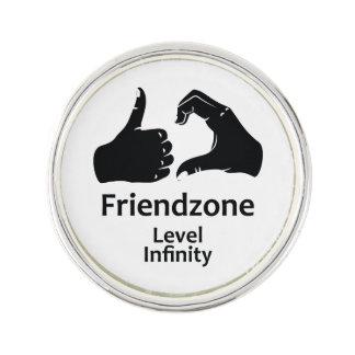 Illustration Friendzone Level Infinity Lapel Pin