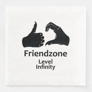Illustration Friendzone Level Infinity Paper Napkin
