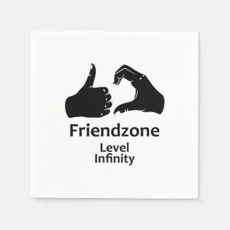 Illustration Friendzone Level Infinity Paper Napkins