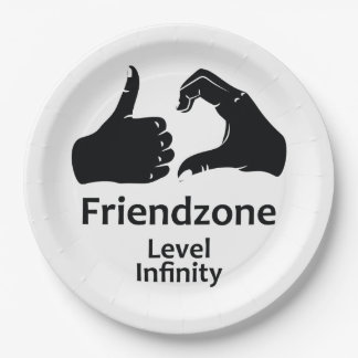 Illustration Friendzone Level Infinity Paper Plate