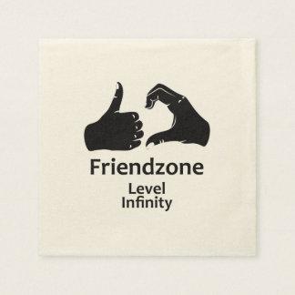Illustration Friendzone Level Infinity Paper Serviettes