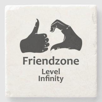 Illustration Friendzone Level Infinity Stone Coaster